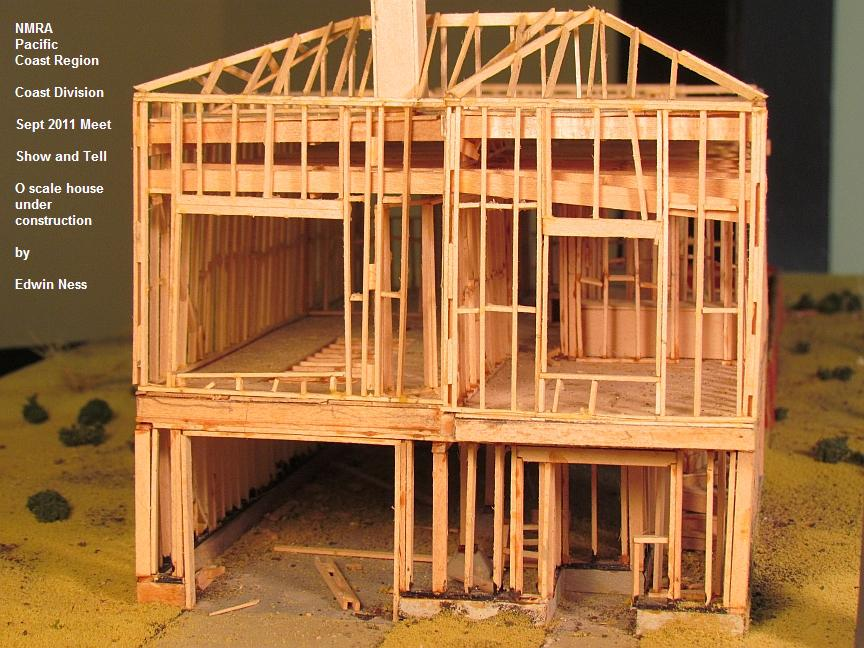 This Model Uses Scale Sized Model Lumber And Is Built And Framed With The  Exactly Correct Construction Techniques, Spacing, And Dimensions.  Impressive!!!